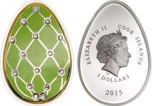 27154 imperial egg cloisonne easter 2015 diamond 3 - Discover the world's 10 most oddly shaped coins...