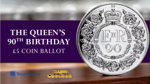 The National UK Five Pound Coin Ballot