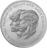 1981 charles and diana wedding - The history of the British crown coin...