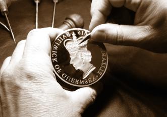 Coin engraving