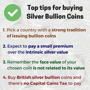 Top tips for buying silver bullion coins