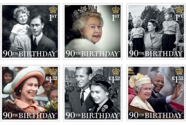 hmq 90th birthday stamps - Prince George to appear on a British Stamp for the first time