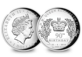 perth mint 1oz silver piedfort q90th - SIX Remarkable Commemoratives that Celebrate Her Majesty's 90th Birthday