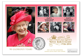 QEII 90th Birthday Silver Coin PNC