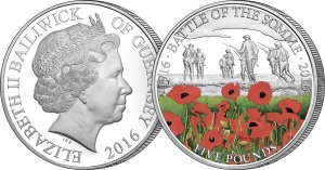 battle of the somme c2a35 cuni proof coin - £500,000 raised for The Royal British Legion