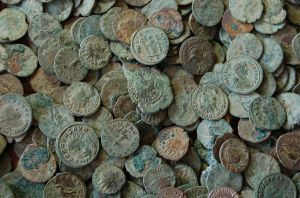 The Frome Hoard of 52,503 Roman coins.