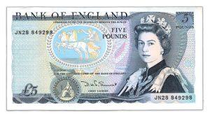 The UK Harry Eccleston £5 Banknote.