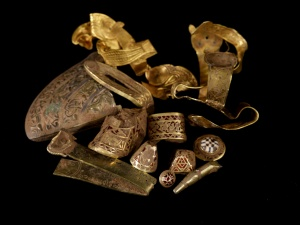 A selection of highlight pieces from the Staffordshire Hoard