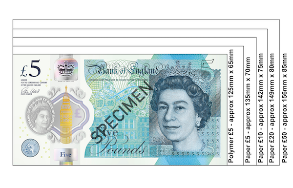 polymer bank note scale 011 - Everything you need to know about the new polymer £5 note