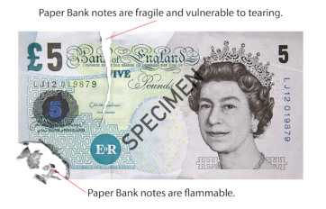 torn burned bank note 011 - Everything you need to know about the new polymer £5 note