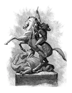 st george and the dragon etching