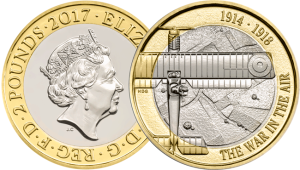 first world war aviation 2017 uk c2a32 brilliant uncirculated coin both sides - Revealed: The Royal Mint UK commemorative coin designs for 2017