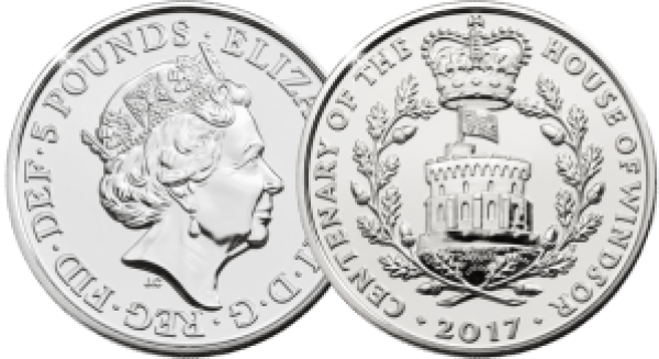 house of windsor centenary 2017 uk c2a35 brilliant uncirculated coin both sides - Revealed: The Royal Mint UK commemorative coin designs for 2017