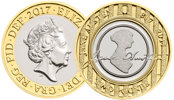 The Jane Austen £2 Coin