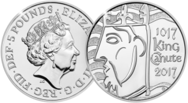 king cnut 2017 uk c2a35 brilliant uncirculated coin both sides - Revealed: The Royal Mint UK commemorative coin designs for 2017