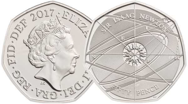 2017 uk isaac newton 50p coin