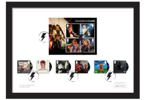 David Bowie Framed Royal Mail Stamps