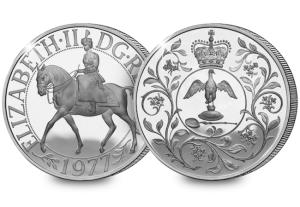 silver jubilee crown