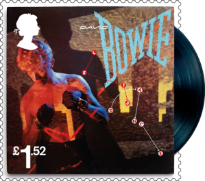 david bowie lets dance stamp