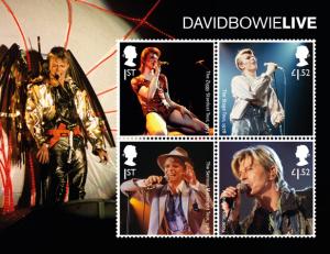 david bowie miniature sheet