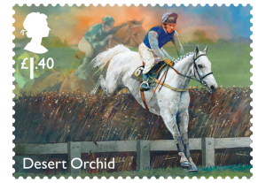 horse racing stamp desert orchid