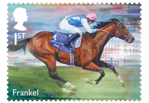 horse racing stamp frankel