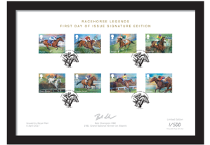 horse racing framed collector card