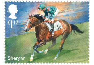 horse racing stamp shergar