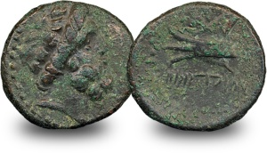 ancient greek zeus coin