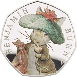 The 2017 Benajmin Bunny UK Silver 50p Coin