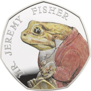 jeremy fisher 2017 silver proof - Meet the FOUR new Beatrix Potter 50p coins...