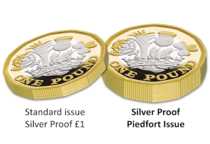 The double-thickness Silver Proof Piedfort 12-Sided £1 Coin