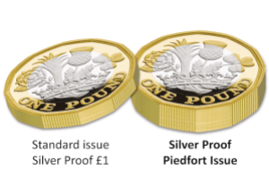 nations of the crown silver proof piedfort 1 pound coin flat comparison - The New 12-Sided £1 Coin Collector Editions