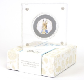 st 2016 peter rabbit silver proof 50p coin in box close up - Britain's most popular EVER 50p - and how you can WIN one...