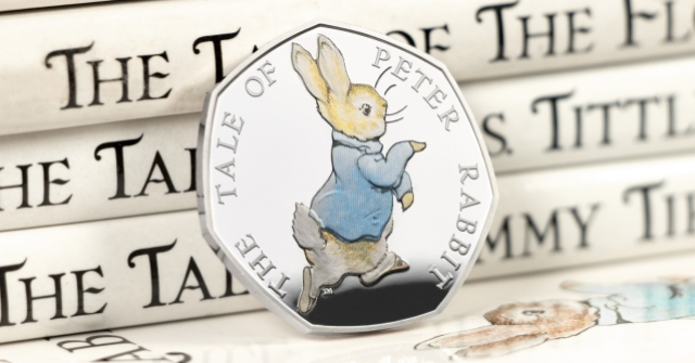 st 2017 peter rabbit silver proof 50p coin facebook banner2 - Meet the FOUR new Beatrix Potter 50p coins...