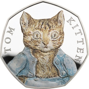 The 2017 Tom Kitten UK Silver 50p Coin