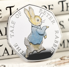 The 2017 Peter Rabbit Silver Proof 50p
