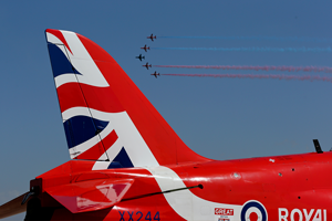 red arrows close up - Is being a Red Arrow just like being in Top Gun? Red 9 reveals all...
