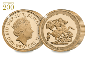 2017 gold sovereign proof piedfort both sides - 200 years of the Sovereign. The UK's First Ever Gold Proof Piedfort Sovereign.