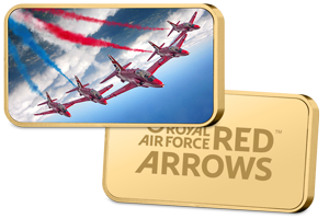 Red-Arrows-2017-Display-Season-Gold-Plated-Ingot