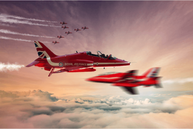 sling shot man - Poll: Which Red Arrows photograph do you prefer?