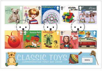 classic toys first day cover