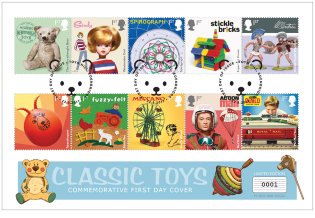 toys fdc - Remember the 'Classic Toys' of your childhood - vote for your favourite