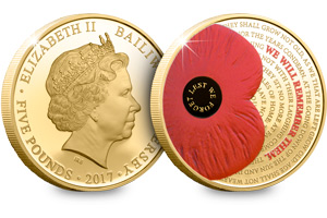 2017 remembrance poppy c2a35 gold plated proof coin - Why this year's official Poppy coin is one of the most poignant yet…