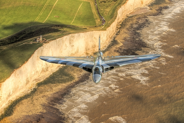 avro vulcan coastline - Poll: Which Avro Vulcan photograph do you prefer?