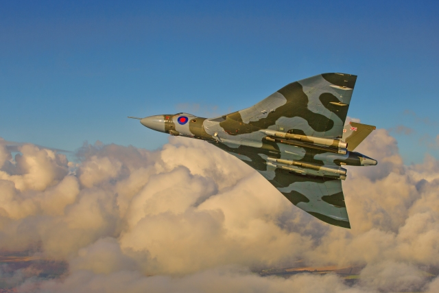 avro vulcan flying through clouds - Poll: Which Avro Vulcan photograph do you prefer?
