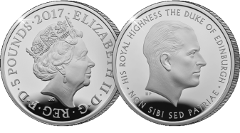 prince philip life of service 2017 uk c2a35 silver proof1 - Released today: the new 2017 United Kingdom Prince Philip £5 coin