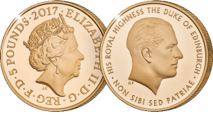 prince philip life of service gold c2a35 - Released today: the new 2017 United Kingdom Prince Philip £5 coin