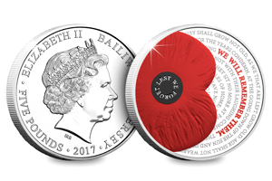 rbl 2017 remembrance poppy c2a35 coin - Supporting The Royal British Legion