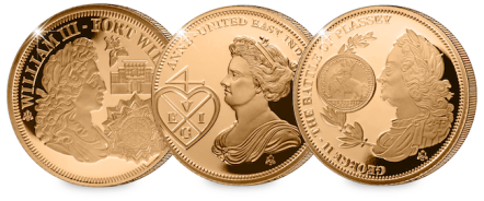 eic set blog images amends william iii queen anne george ii1 - Why these 9 gold coins tell a story that changed the world…